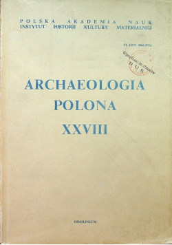 Archaeologia Polona XXVIII