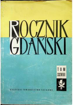 Rocznik Gdański tom XXVIII