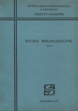 Studia Bibliologiczne Zeszyt 1