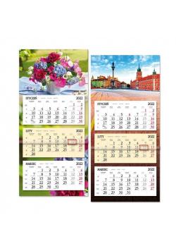 Kalendarz 2022 trójdzielny z płaską główką SB8 MIX