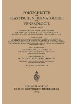 Fortschritte der Praktischen Dermatologie und Venerologie Vierter Band
