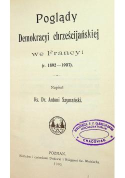 Poglądy demokracyi chrześcijańskiej we Francji 1910 r