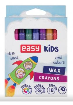 Kredki świecowe 18 kolorów EASY