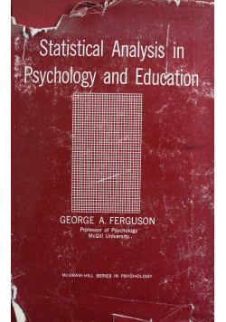 Statistical Analysis in Psychology and Education