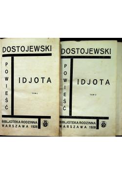 Idjota 2 tomy 1928r