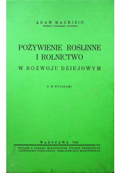 Pożywienie roślinne i rolnictwo w rozwoju dziejowym 1926 r