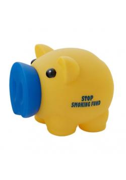 Skarbonka Świnka Stop Smoking Fund zółta MAPED