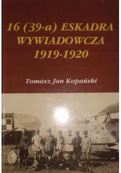 16 ( 39 - a ) Eskadra wywiadowcza 1919 - 1920