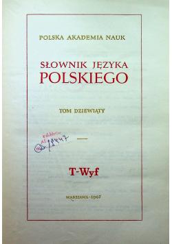 Słownik języka polskiego tom dziewiąty