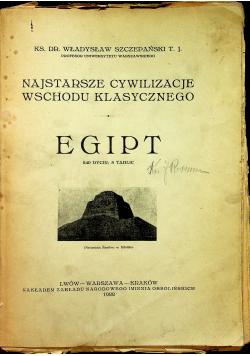 Najstarsze cywilizacje wschodu klasycznego Egipt 1922r