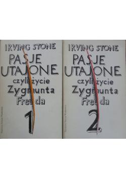 Pasje utajone czyli  życie Zygmunta Freuda Tom I i II
