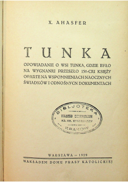 Tunka 1929 r