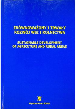 Zrównoważony i trwały rozwój wsi i rolnictwa
