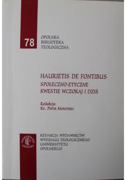 Haurietis de fontibus Społeczno etyczne kwestie wczoraj i dziś