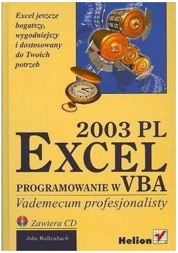 EXCEL 2003 PL Programowanie w VBA