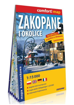 Comfort! map Zakopane i okolice 1:15 000 mapa