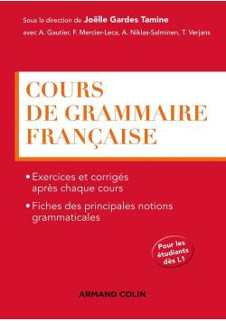 Cours de grammaire francaise podręcznik do gramatyki języka francuskiego+ klucz