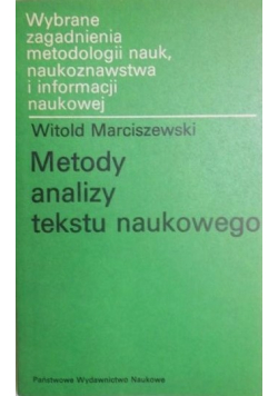 Metody analizy tekstu naukowego