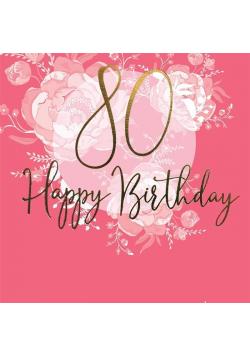 Karnet kwadrat CL0980_SG Urodziny 80