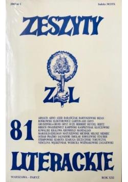 Zeszyty literackie 81 1/2003