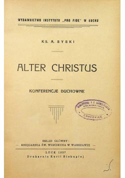 Alter Christus Konferencje Duchowne 1937 r