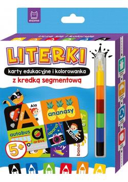 Uczę się i koloruję 5+ Literki. Karty edukacyjne..