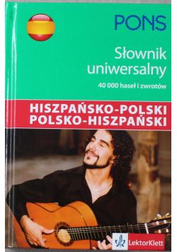 Pons Uniwersalny słownik hiszpańsko polski polsko hiszpański