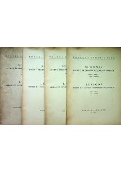 Słownik łaciny średniowiecznej w Polsce 4 zeszyty