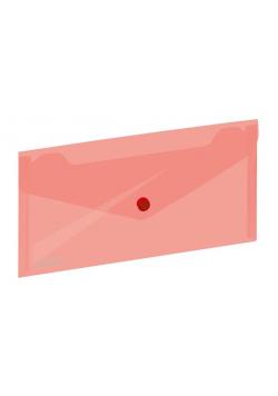 Koperta na zatrzask 254x130mm czerwona GRAND