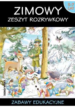 Zimowy zeszyt rozrywkowy Zabawy edukacyjne