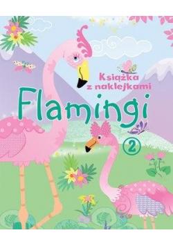 Książka z naklejkami. Flamingi 2