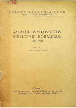 Katalog wydawnictw biblioteki Kórnickiej