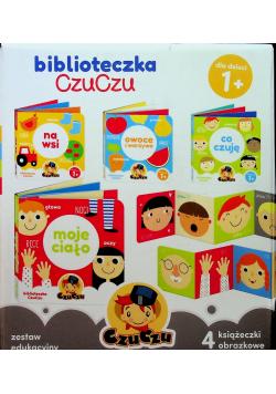 Biblioteczka CzuCzu Zestaw edukacyjny 4 książeczki