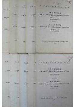 Słownik  łaciny średniowiecznej w Polsce Tom V Zeszyt 1 do 10
