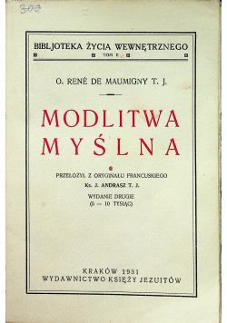 Modlitwa myślna 1931 r
