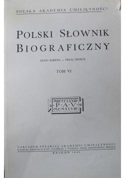 Polski słownik biograficzny tom VI