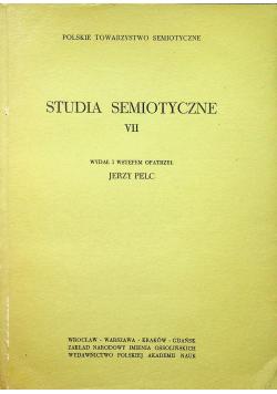 Studia Semiotyczne VII