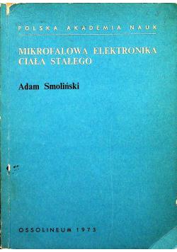 Mikrofalowa elektronika ciała stałego