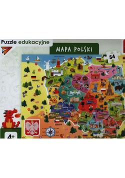 Puzzle edukacyjne 54 Mapa Polski