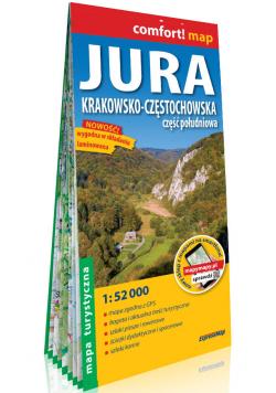 Jura Krakowsko-Częstochowska Część południowa laminowana mapa turystyczna 1:52 000