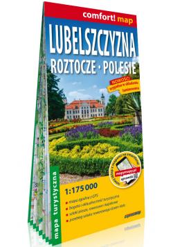 Lubelszczyzna Roztocze, Polesie laminowana mapa turystyczna 1:175 000