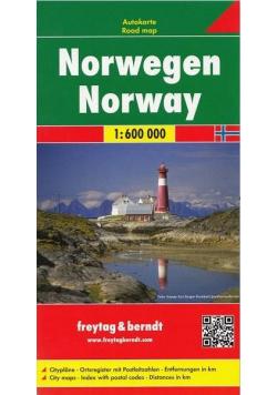 Mapa samochodowa - Norwegia 1:600 000