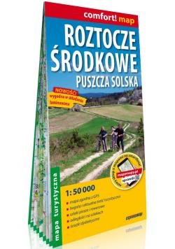 Roztocze Środkowe Puszcza Solska laminowana mapa turystyczna 1:50 000