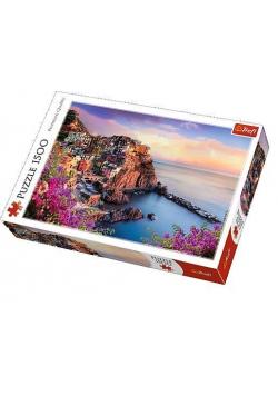 Puzzle 1500 Widok na miasteczko Manarola TREFL