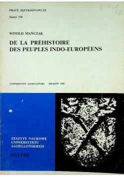 De la prehistoire des peuples indo europeens