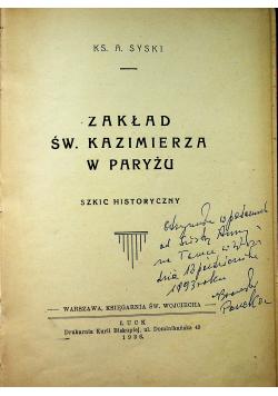 Zakład Św Kazimierza w Paryżu 1936 r