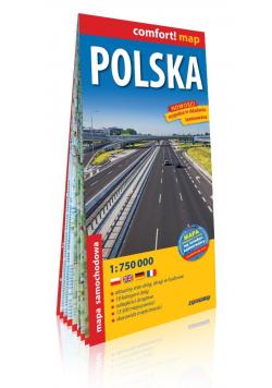 Comfort!map Polska 1:750 000 mapa w.2019