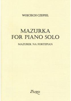 Mazurek na fortepian solo