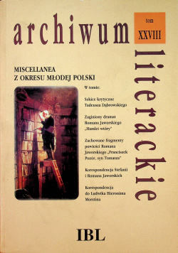 Miscellanea z okresu Młodej Polski