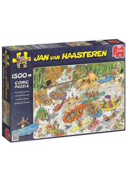 Puzzle 1500 Haasteren Ekstremalny spływ pontonem